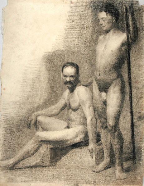 Hommes nus debout et assis_0