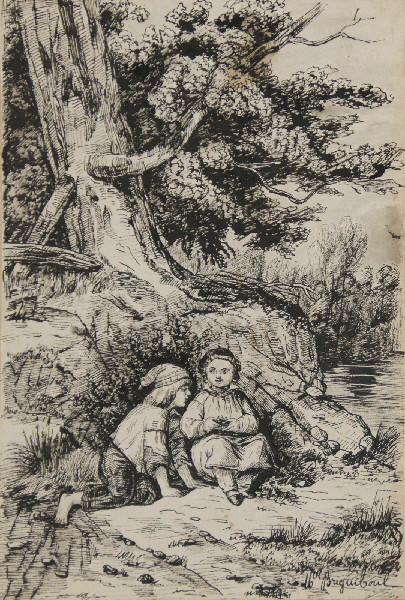Enfants au pied d'un arbre_0