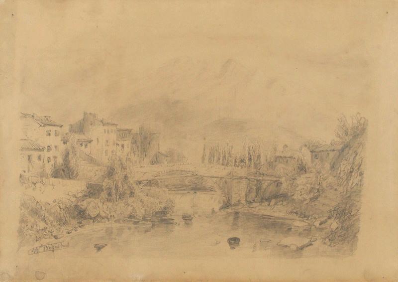 Village et pont sur la rivière_0