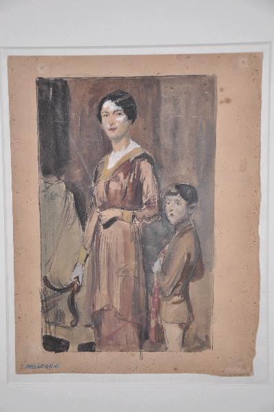 GONTIER Clément (dessinateur) : Femme avec son enfant, Femme (autre titre)
