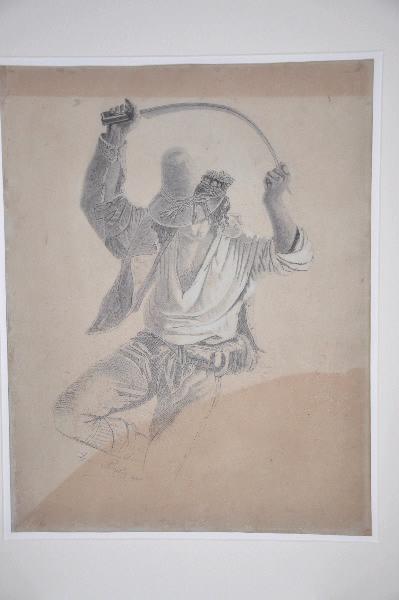 PERILIE Louis (dessinateur), ROBERT Léopold (d'après) : Danseur à la faucille, Danseur au sabre