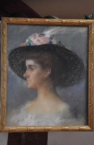 MARRE Henri : Portrait de Mme Camille Deymes