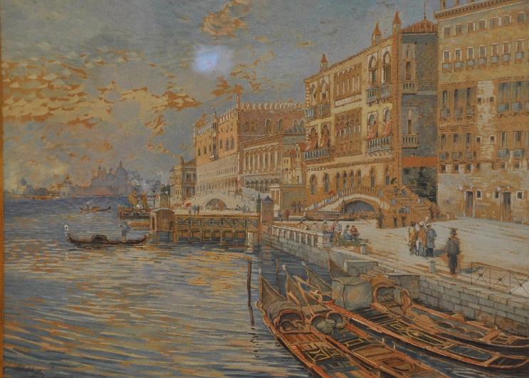 MAZAS Etienne (dessinateur) : Vue de Venise