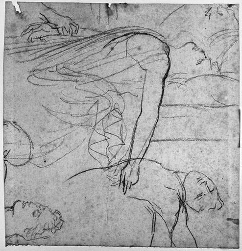 Antiochos (Deux études de buste, et reprise de la tête)_0