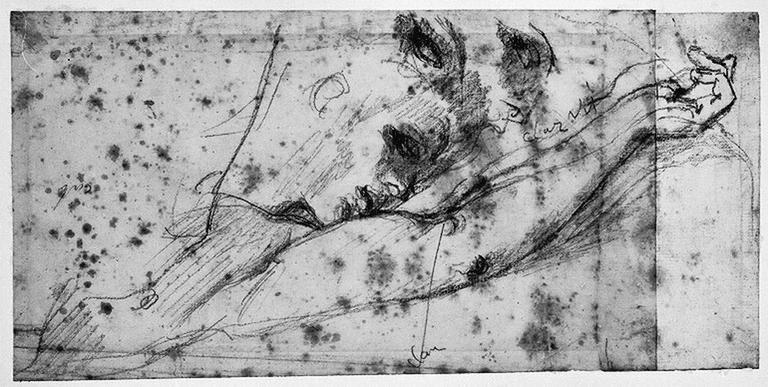 Antiochos (Sa tête et son bras gauche, avec reprise du profil)