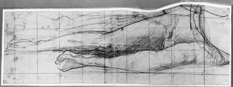 Antiochos (Ses jambes nues, avec variante pour la droite). Verso : vagues motifs (une porte et une sorte de vase)_0