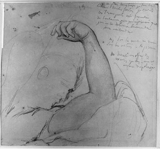 Antiochos (Son bras gauche. Au verso : quelques traits. )_0