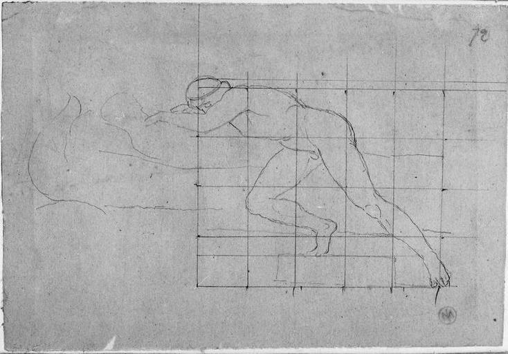 Seleucos (Nu, à demi couché sur le lit, la jambe droite pliée )_0