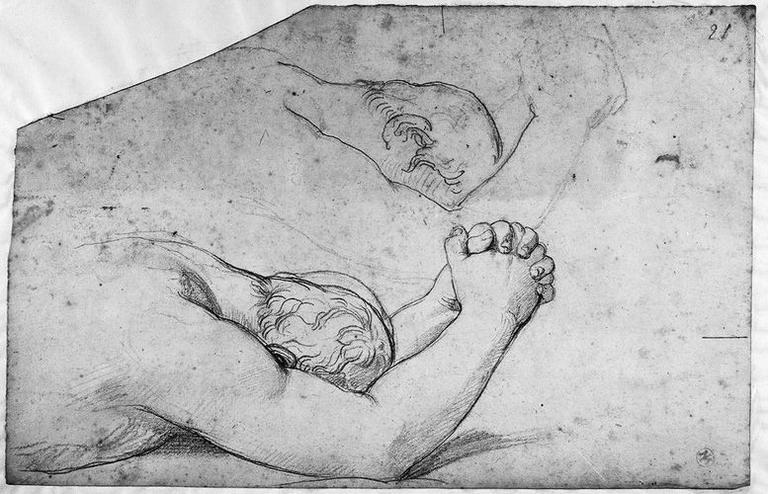 Seleucos (Deux études pour sa tête et ses bras, aux mains jointes)_0