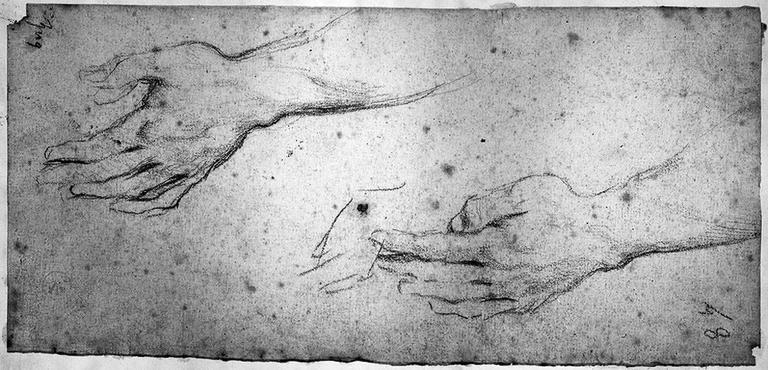 Erasistrate (Deux études pour sa main gauche)_0