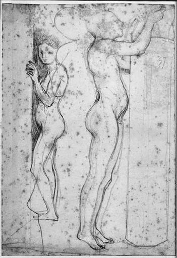 Les Esclaves (Et silhouette de Stratonice entre les deux)_0