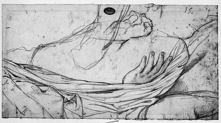 Antiochos (Deux mains gauches, dont l'une dans la couverture du lit)_0