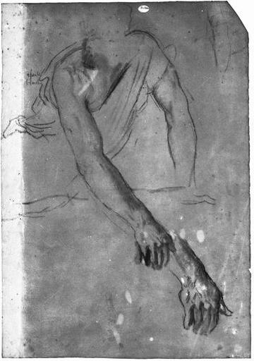 Erasistrate (Son buste, appuyé sur son bras gauche et étendant le bras droit, avec reprise de la main.)_0