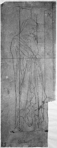 Stratonice (Drapée, devant une porte.)_0