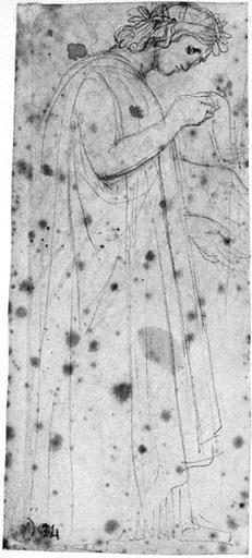 Virgile (Lisant, drapé, de profil à droite, avec variante pour le bras gauche.)_0