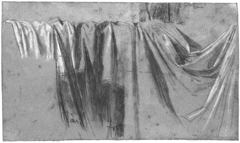 Draperie placée dans le fond de la scène (Et silhouette d'Auguste)_0