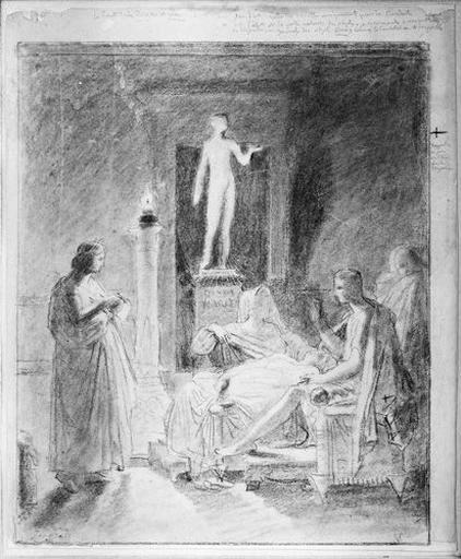 Virgile lisant 'L'Enéide'. (Ensemble de la composition)