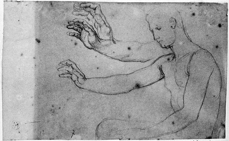 Auguste (Nu, en buste, avec trois études pour son bras droit.)_0