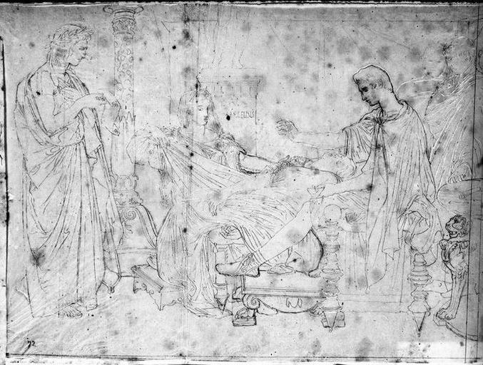 Virgile lisant 'L'Enéide'. (Ensemble de la composition. Mécène et Agrippa sont suggérés.)_0