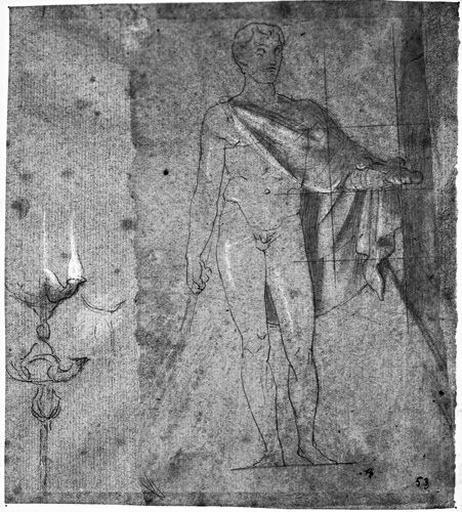 Statue de Marcellus (Nu, une cape sur les épaules. Et en candélabre)_0