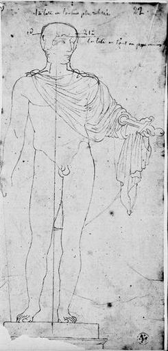 Statue de Marcellus (Nu, une draperie sur les épaules.)_0