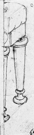 Tabouret antique (dont on ne voit que deux pieds.)_0