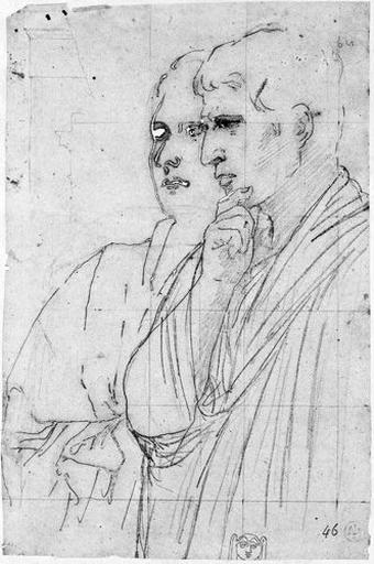 Mécène et Agrippa (et tête ornementale pour le marchepied d'Auguste)