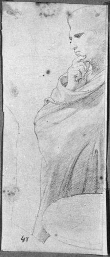 Agrippa (A mi-corps, tourné vers la gauche, portant la main à son menton.)_0