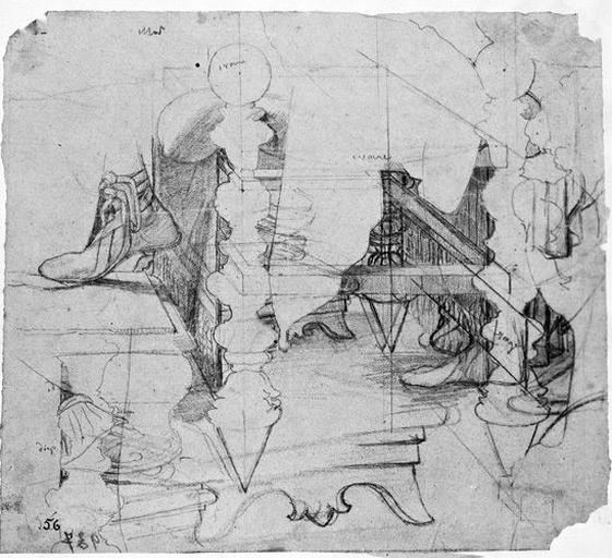 Siège, marchepied (et pied droit d'Auguste.)_0