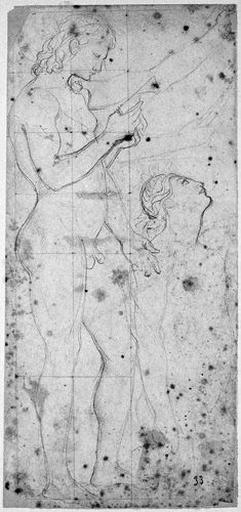 Virgile (Nu, de profil à droite, et reprises à mi-corps, levant la tête)_0