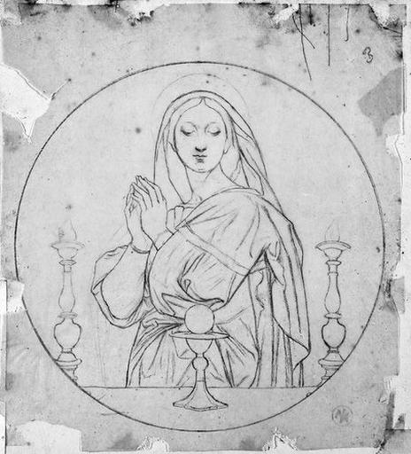 La Vierge (devant un calice et entre deux candélabres)_0