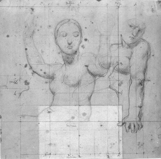 La Vierge, deux anges et une femme (appuyés sur son bras)_0