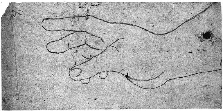 La Vierge (sa main droite)
