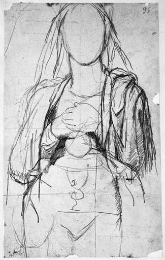 La Vierge (en silhouette, vêtue, avec calice et hostie)_0