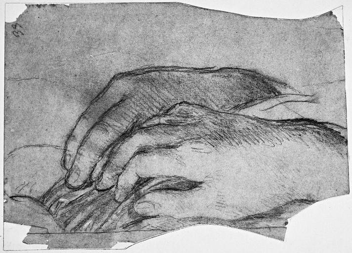 Ange adorateur de gauche (Ses mains)_0
