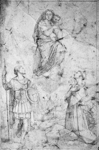 La Vierge entre Saint Léopold et Saint Antoine de Padoue (sur fond de vue de Florence)_0
