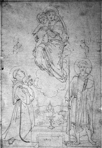 La Vierge entre Saint Alexandre et Saint Antoine de Padoue (sur fond de vue de Florence)_0