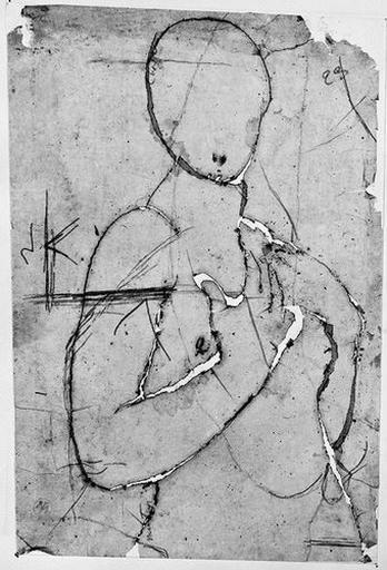 La Vierge (nue, en silhouette)