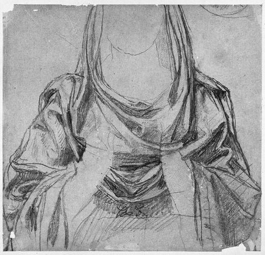 La Vierge (Son buste, sans mains, ni tête)