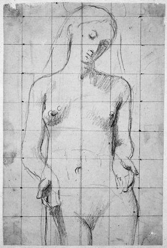La Vierge (Nue, tête inclinée, mains baissées et ouvertes)_0