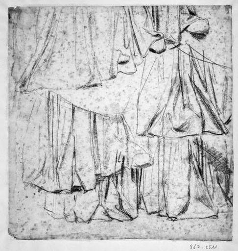 La Vierge (Sept études pour le bas de son manteau)_0