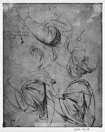 La Vierge (Cinq études pour le bras et l'épaule droits)_0