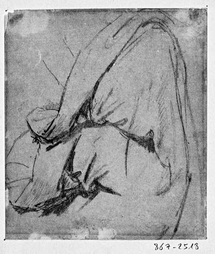 La Vierge (Son manteau, au niveau de l'épaule et du bras)_0