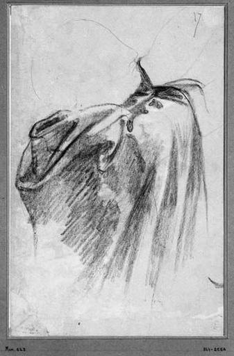 Louis XIII (Le haut de son manteau et l'ombre de sa tête et de sa main)_0
