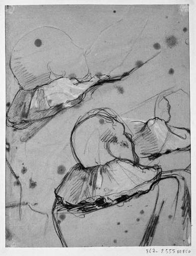 Louis XIII (Deux études pour la manche du manteau). Verso : Louis XIII, deux études de tête