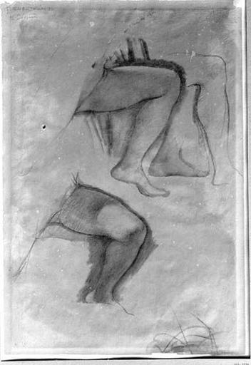 Ange de droite (Quatre études de sa jambe gauche nue)_0