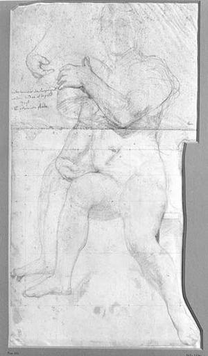 La Vierge (Nue, représentée par Ingres tenant son chapeau haut de forme), et reprise de la main droite_0