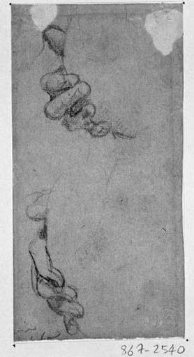 La Vierge (Deux études de sa main droite)_0