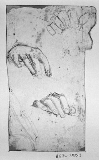 La Vierge (Trois études de sa main )