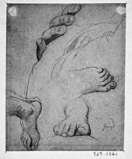 La Vierge (sa main et son pied droit) et Ange de gauche (ses deux pieds)_0